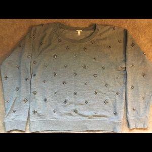 J. Crew All Over Embellished Sweatshirt